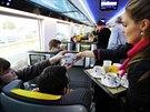 Nové vagóny Astra společnosti RegioJet vyrobené v Rumunsku jsou vybaveny...