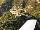Hrad Angelocastro na severozápadním pobřeží Korfu