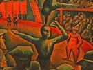 A další z Kubištivých výtvorů, tentokrát Cirkus z roku 1911. (2. října 2014)