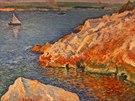 Tak Kubišta v roce 1915 namaloval pobřeží a moře.