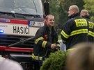 V hotelu Pyramida v Praze hořela technická místnost v 5. patře. Evakuováno...