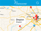 Aplikace Stratocaching - mapa, na které jsou vidět všechny kešky (pokud je již...