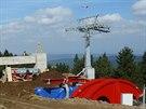 Horní stanice lanovky bude stát na dohled od Masarykovy chaty na Šerlichu. (18....
