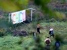 Aktivisté si přinesli rýče a lopaty, fanoušci přišli na stadion vzpomínat se...