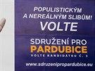SPP zaostává Grafická úprava plakátů vládnoucí strany na radnici působí...