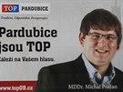 """TOP 09 se snaží """"Topka"""" se snaží nalákat voliče na obličeje. Vzhledem k tomu,..."""