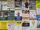 Pardubice jsou zahlceny plakáty s předvolebními  sliby.
