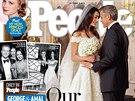 Snímky ze svatby prodal George Clooney stejně jako Brad Pitt časopisům People a...