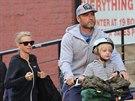 Naomi Wattsová, Liev Schrieber a jejich mladší syn Samuel