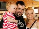 Pavel Novotný s manželkou a dcerou v roce 2012