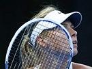 JAK TO VYPADÁ. Maria Šarapovová ve finále turnaje v Pekingu.