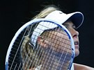 JAK TO VYPAD�. Maria �arapovov� ve fin�le turnaje v Pekingu.
