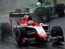 NA TRATI. Jules Bianchi ve Velké ceně Japonska formule 1.
