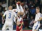 GÓLOVÉ SALTO. Juraj Kucka tradičně slaví gól ve španělské síti.