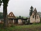 Vyhořelá stodola ve Zdoňově