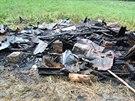 Požár zničil chatku