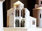 V�stava Architecture Week na Pra�sk�m hrad�, maketa kostela sv. Prokopa v...