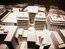 Výstava Architecture Week na Pražském hradě, maketa znázorňuje Spálenou ulici.