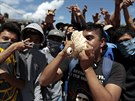 Demonstrace proti zmizení studentů v Chilpancingo