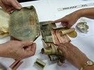 Schránka v soše tvořená dělostřeleckým granátem skrývala v Norberčanech...