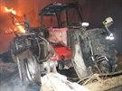 Požár velkokapacitního seníku na Olomoucku napáchal škody za zhruba tři miliony...