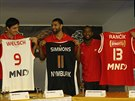 Nymbur�t� basketbalist� Ji�� Welsch, Tre Simmons, Darius Washington a Rado...