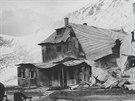 Kežmarská chata shořela 7. října 1974. Příčinou byla závada na dieselovém...