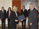 Prezident Miloš Zeman jmenoval Karlu Šlechtovou do funkce ministryně pro místní