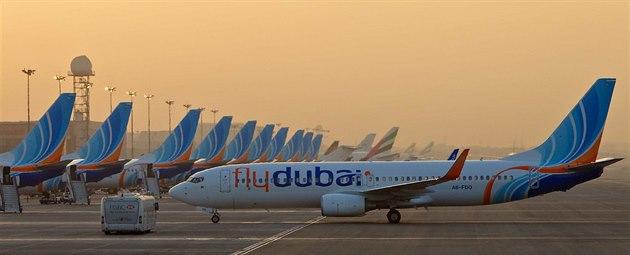 Flotilu letecké spole�nosti flydubai tvo�í výhradn� letadla Boeing 737-800.