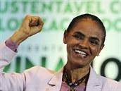 Kandidátka na brazilskou prezidentku Marina Silvaová (30. září 2014).