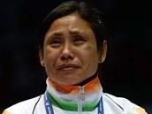 Indická boxerka Serita Deviová odmítla na Asijských hrách převzít bronzovou