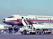 Na konci roku 1957 nasadily ČSA na linku Praha - Moskva letadla Tu-104A, čímž...