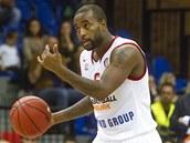 Nymburský Darius Washington v utkání proti Krasnodaru.