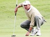 KUDY K JAMCE. Ivan Lendl při golfu na Černém Mostě.