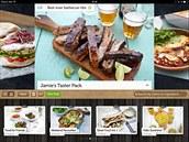 Aplikace Jamie Oliver's Recipes má skvělou grafiku a obsahuje recepty na...