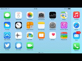 iPhone 6 Plus - zobrazení hlavního menu na šířku.
