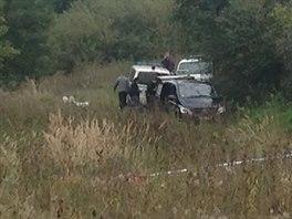 V lese u Pochvalova na Rakovnicku byly nalezeny lidské ostatky (6.10.2014)