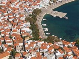 Hlavní město Skiathos ostrova Skiathos, Sporadské ostrovy
