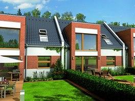 Řadové domy Linea si vystačí i s malým pozemkem.
