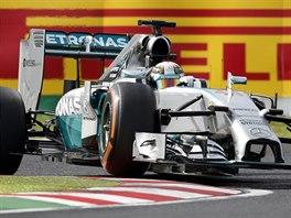 Lewis Hamilton v kvalifikaci na Velkou cenu Japonska.