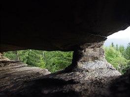 Skalní dutiny na Karliných kamenech