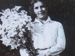 Karen Blixenová na archivním snímku v muzeu