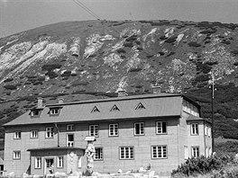 Kežmarská chata v dobách největší slávy.