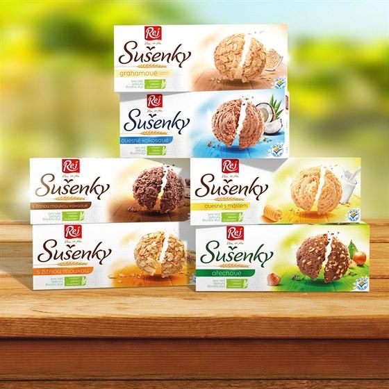 Celozrnné sušenky REJ: Obaly se mění, původní oblíbené receptury zůstávají