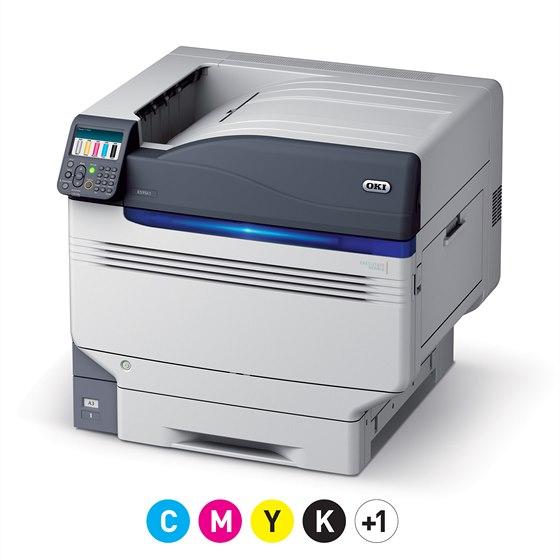 OKI ES9541 umožňuje tisknout doplňkovou pátou barvou, což může být bílá nebo...