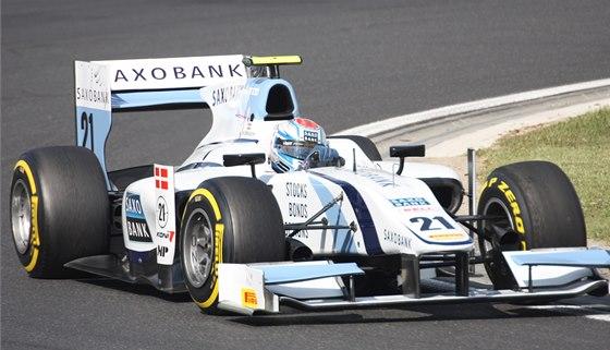 POPRVÉ. Marco Soerensen zajistil v Soči pro sebe a pro MP Motorsport první