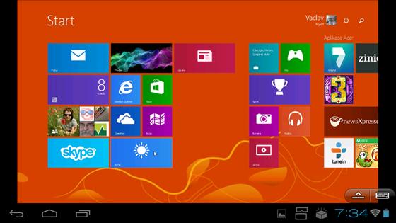Vzdálený přístup k počítači s Windows 8.1.
