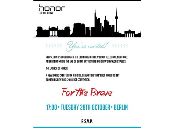 Pozvánka na představení značky Honor
