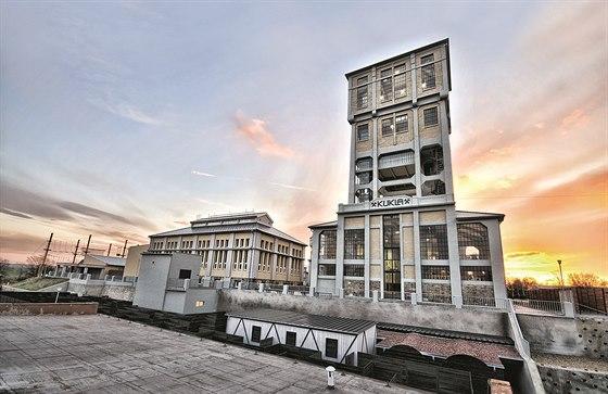 Věž dolu Kukla. Černouhelný důl u Brna fungoval od roku 1865, v letech 1911-13...