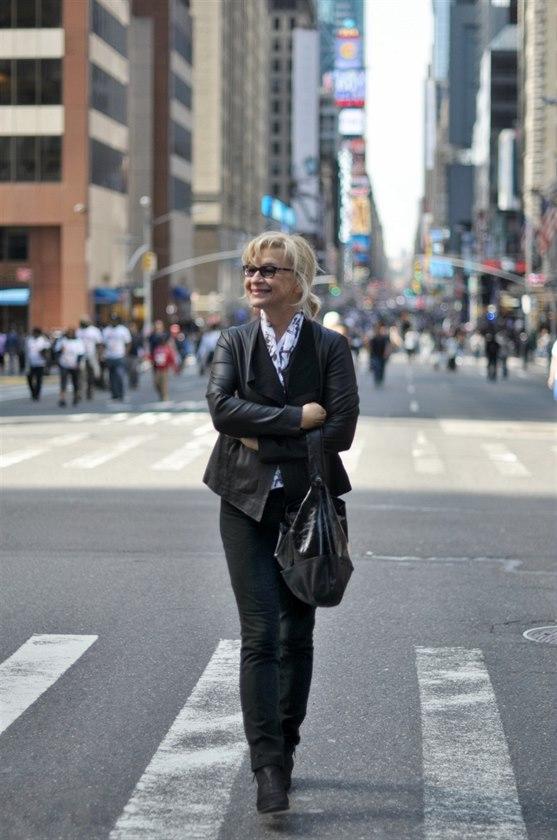 Jana Paulov� na 7 Avenue v New Yorku